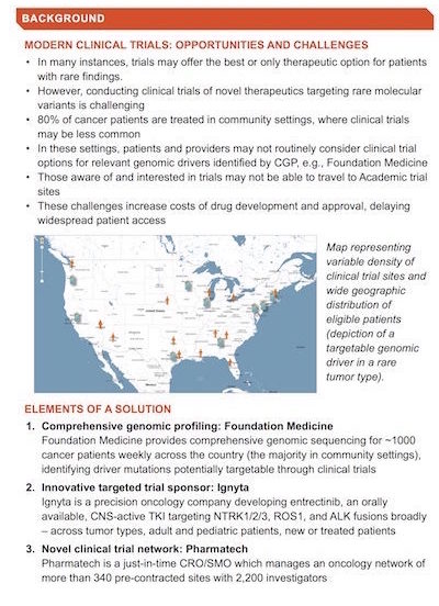 "Accelerating Clinical Trial Enrollment with Comprehensive Genomic Profiling (CGP) and ""Just-in-Time"" Clinical Trail Sites"